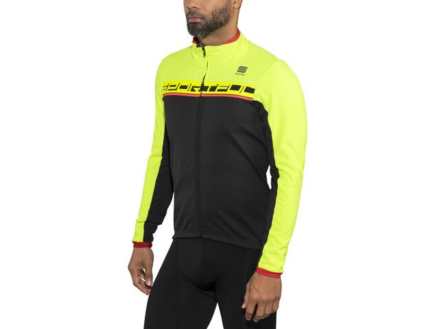Sportful Giro Softshell Jacket Herrer, black/yellow fluo/red